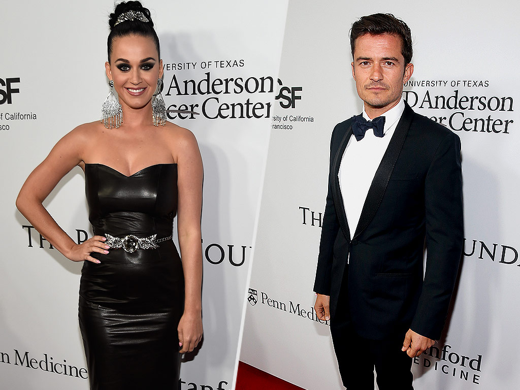 Katy Perry and Orlando Bloom Pack on the PDA at L.A. Soiree