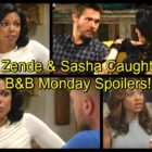 The Bold and the Beautiful Spoilers: Nicole Sees Zende's Bedroom Romp with Sasha – Steffy and Liam Love Fest Disaster