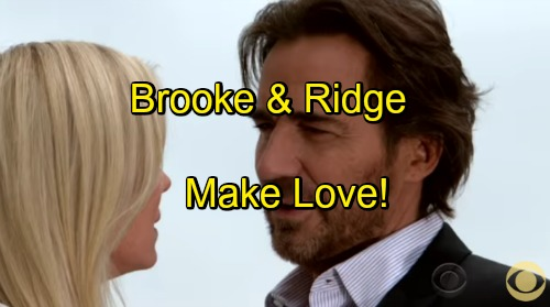 'The Bold and the Beautiful' Spoilers: Bradley Bell Reveals Brooke Chooses Ridge – Couple Makes Love, Gets Engaged