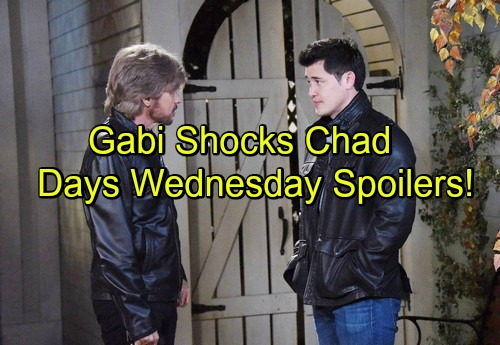 Days of Our Lives Spoilers: Gabi's Choice Stuns Chad - Theo Lashes Out at Lying Valerie - Steve and Paul Search for Clues