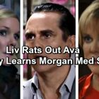 General Hospital Spoilers: Liv Saves Herself From Sonny, Throws Ava Under the Bus – Morgan Med Switch Revealed